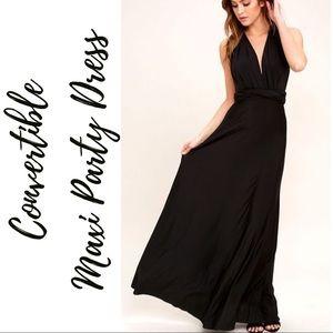 Dresses & Skirts - 🆕 Black Convertible Maxi Dress